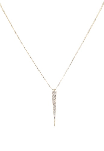 Orelia London gold Pave Spear Short Necklace OR747AC0SC4AMY_1
