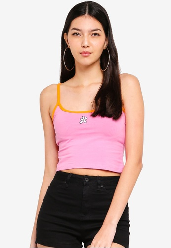 Factorie pink Graphic Scoop Neck Tank Top 52A7BAAA82AE70GS_1