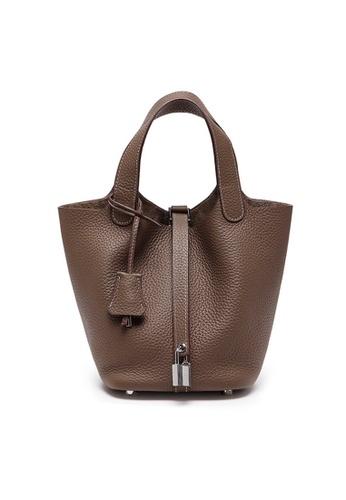 Twenty Eight Shoes brown VANSA Simple Leather Bucket Hand Bag VBW-Hb928700S 37DC5AC9D1BEDCGS_1