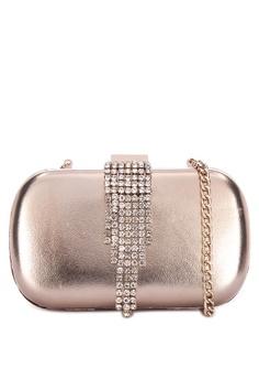 6d415115372 Dune London gold Embellier Di Embellished Minaudiere Clutch  4B353ACF57A6C9GS_1