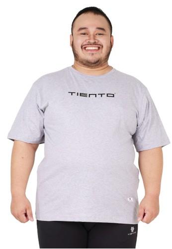 Tiento grey Tiento T-Shirt Jumbo To Move Grey Baju Kaos Pria Lengan Pendek Big Size A511AAA0D2CAFAGS_1