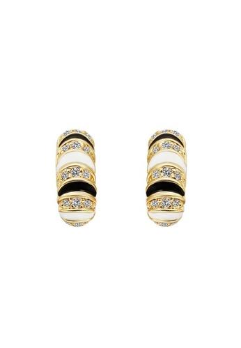 Treasure by B & D gold Treasure by B&D E552 Czech Drilling Caterpillar Shape Stud Earrings TR022AC74XPLPH_1