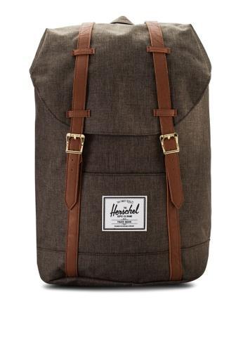 Herschel brown Retreat Backpack HE114AC81UCCMY_1