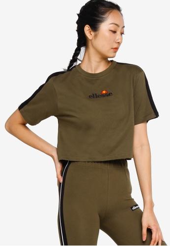 ellesse green Amarillo Crop T-Shirt 7A55BAA9A55F75GS_1