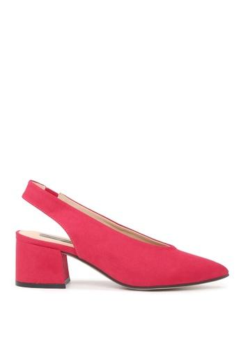 London Rag 粉紅色 LONDON RAG 女式紫红色的尖头凉鞋 DC36ASHF71816AGS_1