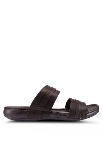 Carlton London brown Double Strap Sandals 24C7ASH0D3EF24GS_1