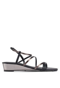 73bea849142 VINCCI black Strappy Sandals 32472SH6D97D11GS 1
