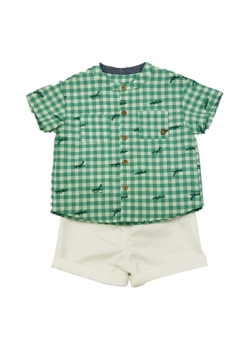 Organic mom green Organic Cotton Cola Croco Outfit C3183KAB7FB7D4GS_1