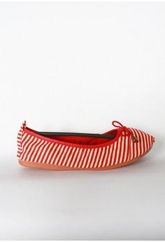Mini Ribbon Stripes Canvas Foldable Shoes