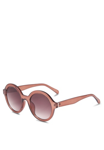 Mango pink Retro Style Sunglasses E0338GL6247690GS_1