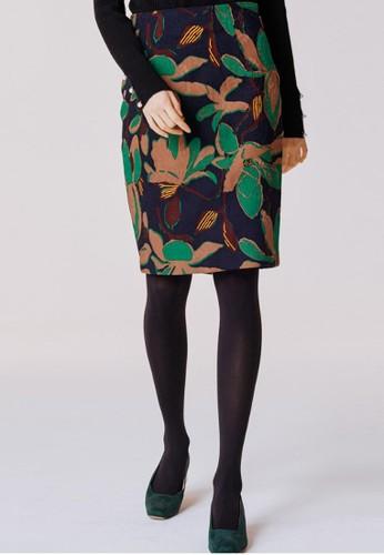 提花印花中裙, 服飾, 及zalora 台灣門市膝裙