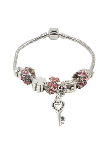 Venice Jewelry pink and silver Venice CB-0007 VE564AC31DLGPH_1