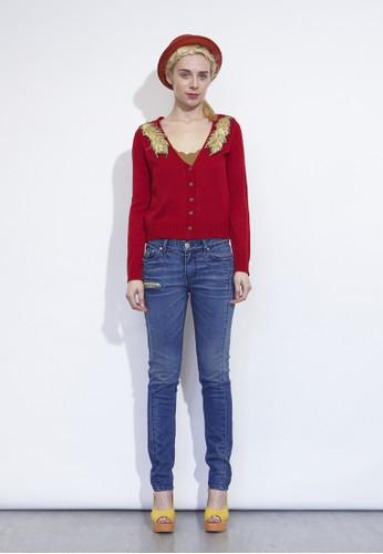 羽毛針織esprit china開衫, 服飾, 上衣