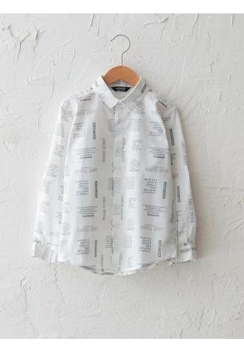 LC Waikiki white Patterned Long Sleeve Boy Poplin Shirt 1BC63KA1FE7BCCGS_1