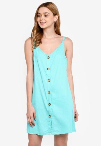 Cotton On green and blue Woven Margot Slip Dress B7974AA23A7FD4GS_1