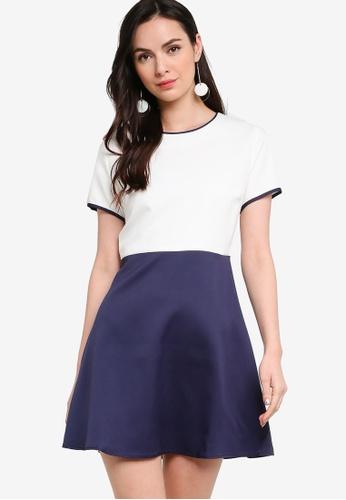 ZALORA WORK multi Colourblock Fit & Flare Dress 580C9AAA970081GS_1