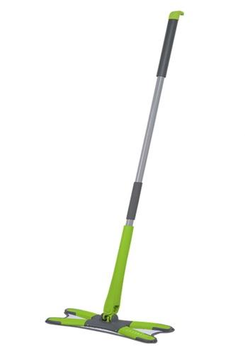 Scrubz green Heavy Duty Cleaning Essentials Easy Grip Premium Microfiber 360á´¼ X-Type Flat Mop F1F3DHLD485C6AGS_1