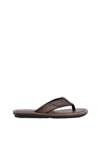SEMBONIA brown SEMBONIA Men Synthetic Leather Sandal (Brown) SE598SH0SZ8SMY_1