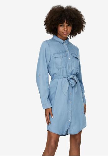 Vero Moda blue Belt Mini Dress F2DB8AA5501CACGS_1