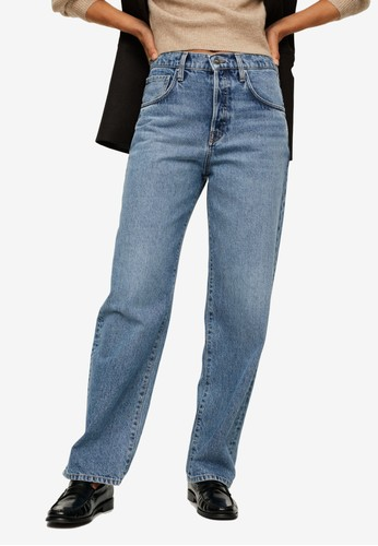 Mango blue High-Rise Relaxed Jeans 5D1DCAA9EBC457GS_1