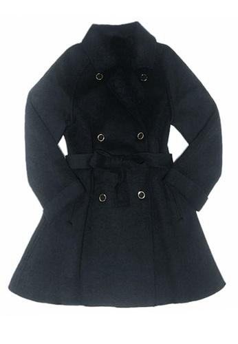 Twenty Eight Shoes black VANSA Solid Color Wool Coat  VCW-C001G 1F083AA424E6F2GS_1