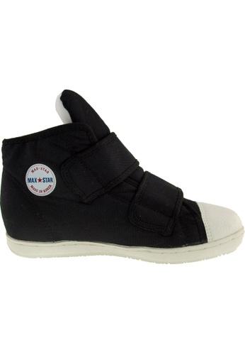 Maxstar black Maxstar Women's 203 Dual Velcro Hidden Heel Canvas Casual  Shoes US Women Size MA164SH60PVVSG_1
