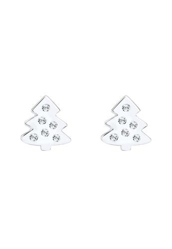 Elli Germany silver Earring Christmas Tree Swarovski®Crystals 925 Silver EL474AC0SEUUMY_1