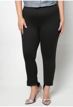 Topstitched Basic Plus Size Leggings