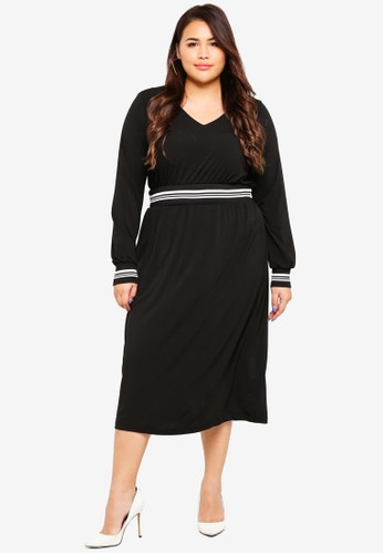 Junarose black Plus Size Ruby Dress A611DAA30FFD21GS_1