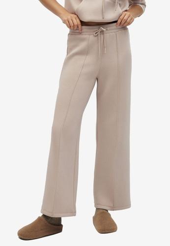 Mango brown Elastic Waist Trousers 1FAAAAA6294354GS_1