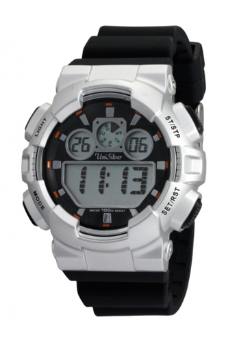 UniSilver TIME grey Urbanite Collection Digital Rubber Watch KW1491-1007 UN802AC72JNNPH_1