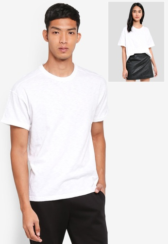 UniqTee white Short Sleeve Roller Tee 334DAAA19C8458GS_1