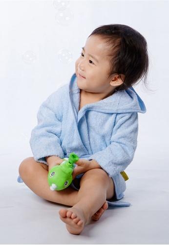 Cheekaaboo blue Baby Boy Bamboo Hooded Bathrobe 22670KC3175485GS_1