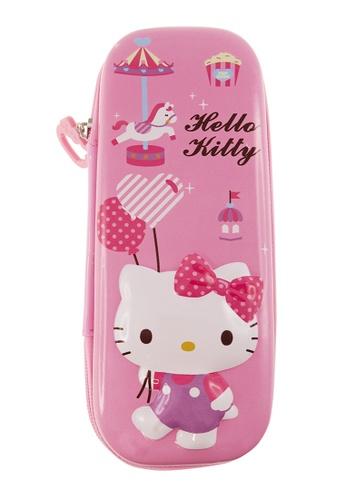 Hello Kitty pink Hello Kitty Carousel Eva Pencil Case 7C236KCF4FA8F7GS_1