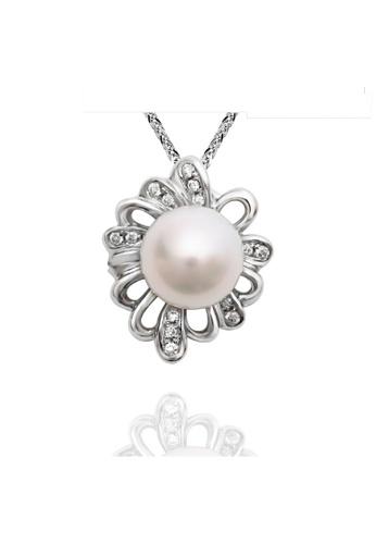 GOLDHEART Goldheart White Gold 375 (9K) + Pearl Diamond Espoir Pendant (P5229) 2E426ACF0864B9GS_1