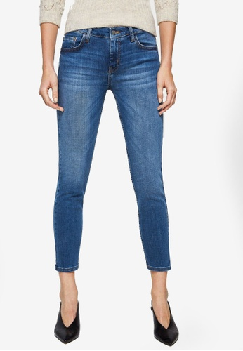 Mango blue Cropped Skinny Jeans 1A9F5AA6C96351GS_1