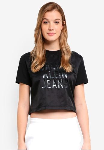 Calvin Klein black Short Sleeve Mix Logo Baby Tee - Calvin Klein Jeans 14872AAA467E20GS_1