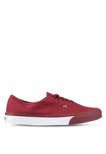 VANS red Authentic Mono Bumper Sneakers VA142SH0SWQZMY_1