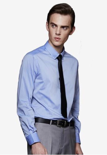 都會簡約。彈力修身。混織精紡商務襯衫-MIT-11037-麻花藍、 服飾、 商務襯衫Life8都會簡約。彈力修身。混織精紡商務襯衫-MIT-11037-麻花藍最新折價