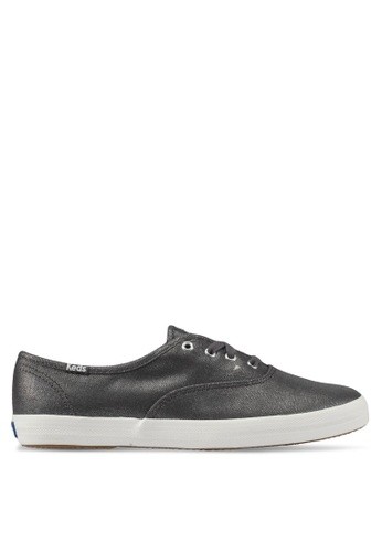 Keds grey Champion Metallic Linen Sneakers KE942SH0STFLMY_1