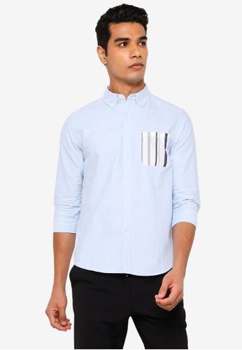 RAGEBLUE blue Half Sleeve Shirt 6259AAA3109388GS_1