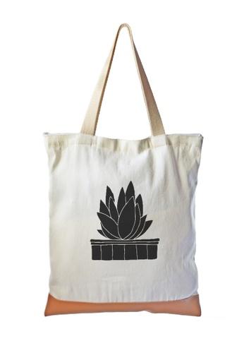 Myriad Print Concepts white Multi-purpose Printed Tote Bag MY418AC0JIIEPH_1