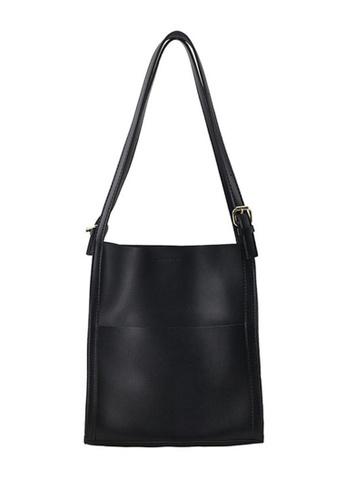 Lara black Women's Leather Tote Bag - Black E1CEAAC81948B7GS_1