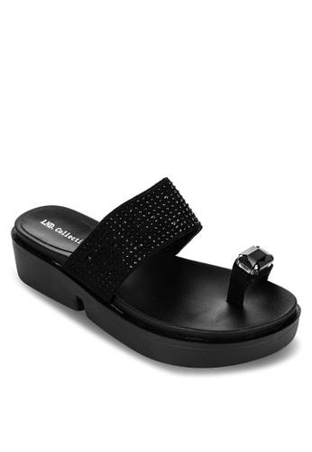 LND black Daniela One Finger Slides E5120SH1EA205FGS_1