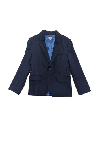 PAUL SMITH JUNIOR blue PAUL SMITH JUNIOR BOYS FORMAL JACKET 478C6KA01FEFC3GS_1
