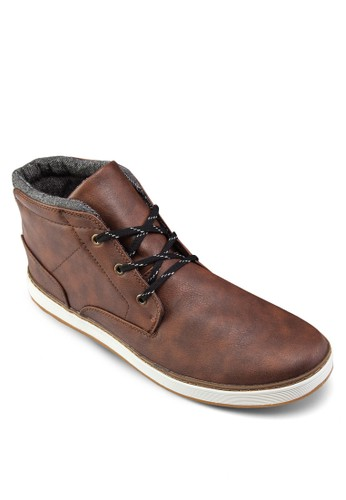 繫帶仿皮短zalora 折扣碼靴, 鞋, 鞋