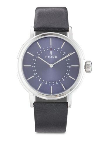 Elif 雙指zalora 台灣門市針皮革錶, 錶類, 飾品配件