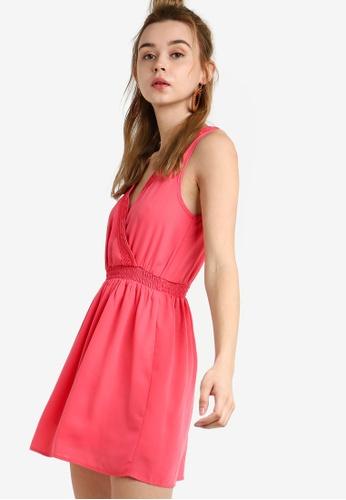 Something Borrowed 橘色 Lace Trim Sleeveless Smock Dress 795F3AAA7739B6GS_1