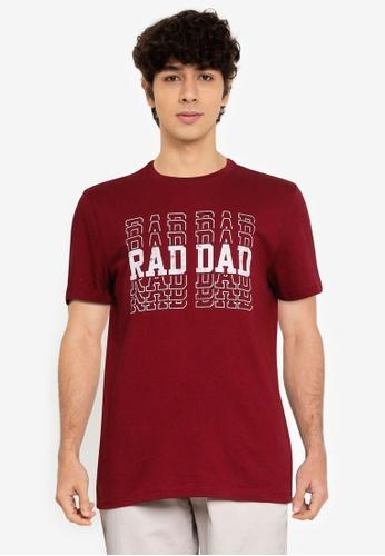 GAP 紅色 V-Rad Dad T恤 C49F9AA7D17CDFGS_1