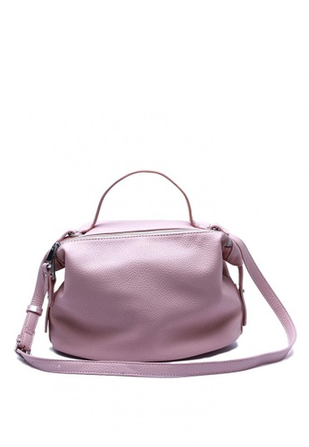 NOBASIC pink Double Zipper PU Bag NO183AC0J00WPH_1